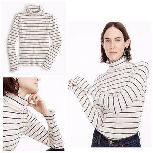 NWT J. Crew Stripe Ribbed Turtleneck Light Sweater